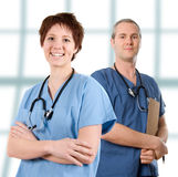 Male nurse. Male doctor happy on white isolated background stock photos