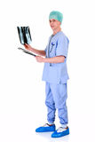 Male nurse, admin work Stock Photos