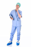 Male nurse, admin work Royalty Free Stock Photos