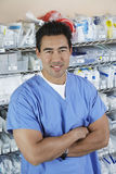 Male Nurse With Arms Crossed Stock Photography