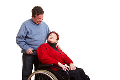 Male nurse caring for disabled Royalty Free Stock Image