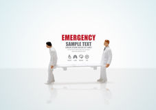 Male nurse miniature figure concept health emergency Royalty Free Stock Photos