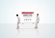 Male nurse miniature figure concept health emergency. Icons Royalty Free Stock Photos