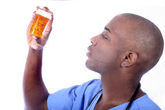 Male Nurse and Pills stock image