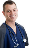 Male nurse in scrubs Royalty Free Stock Photography