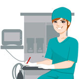 Male Nurse Writing Documents Royalty Free Stock Images