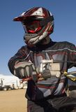 Male Off Road Biker With Motor Biker Stock Photos