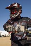 Male Off Road Biker With Motor Biker Stock Photos
