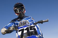 Male Off Road Motor Biker Royalty Free Stock Image