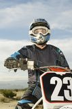 Male Off Road Rider With Motor Bike Stock Images