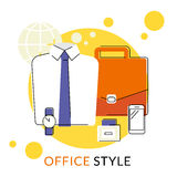 Male office accessories Royalty Free Stock Photo