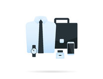 Male office accessories Royalty Free Stock Photos