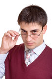 Male office worker stock photography