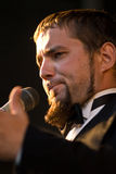 Male Opera Singer. A portrait of a male opera singer performing on stage Royalty Free Stock Photos