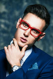 Male optics style Stock Photos