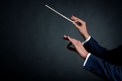 Male orchestra conductor Royalty Free Stock Image