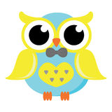 Male Owl with Bow Tie Vector Stock Photo