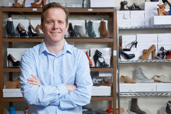Male Owner Of Shoe Store. Portrait Of Male Owner Of Shoe Store Royalty Free Stock Image