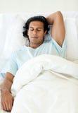 male patient sova för underlagsjukhus Arkivfoton