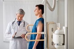 Male Patient Undergoing X-ray Test Stock Photography