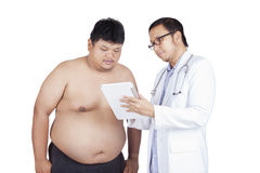 Male patient visiting on the doctor Stock Images