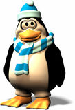 Male Penguine. Its cold on the north pole. Therefor this male penguin wears something to warm him Stock Photo