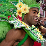 Male performer in the 2009 Notting Hill Carnival Royalty Free Stock Photo