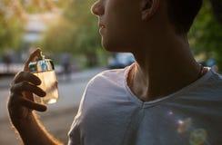 Male perfume royalty free stock photos