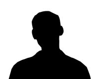 Male Person Illustration. Unknown male person illustration on the white isolated background vector illustration