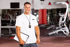 Male personal trainer royalty free stock image