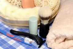 male personliga hjälpmedel för hygien Royaltyfria Foton