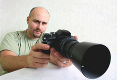 A male photographer Stock Photos