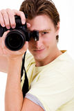 Male photographer Stock Image