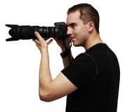 Male photographer Stock Images
