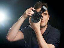 Professional photographer at work royalty free stock images