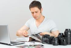 Male photographer. Stock Image