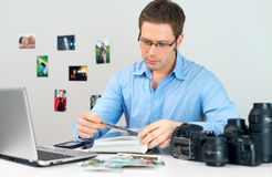 Male photographer. Royalty Free Stock Photo