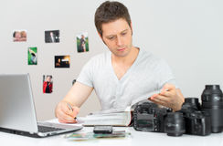 Male photographer. Stock Photos