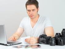 Male photographer. Royalty Free Stock Photo