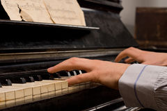 Male pianist practicing Stock Photography