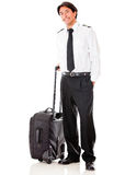 Male pilot with a bag Royalty Free Stock Photo