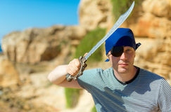 Male pirate. Royalty Free Stock Photo