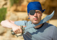 Male pirate. Royalty Free Stock Photography