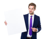Male with placard Royalty Free Stock Images