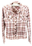 Male plaid shirt. Insulated on white background Royalty Free Stock Photo