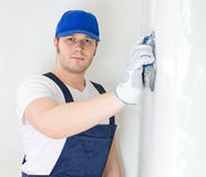 Male plasterer Stock Photography