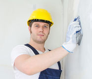 Male plasterer Royalty Free Stock Photos