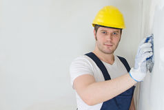 Male plasterer Stock Image