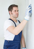 Male plasterer Stock Images