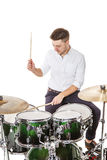 Male player on drums Stock Image